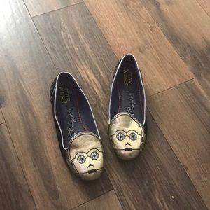 Irregular choice sz 9 women's flat C3PO shoes